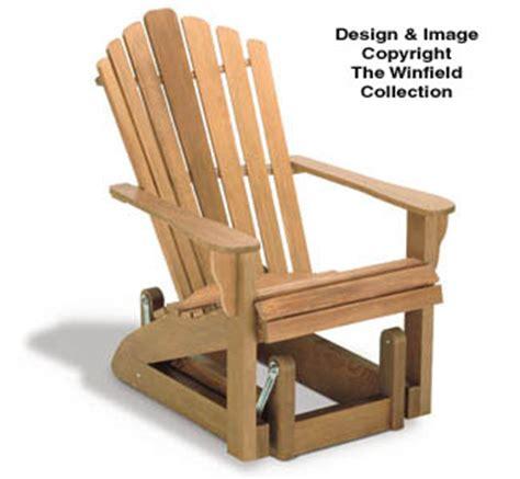 yard projects parts kits adirondack glider chair