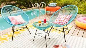 Salon De Jardin Acapulco : le mobilier de jardin en scoubidou joli place ~ Teatrodelosmanantiales.com Idées de Décoration