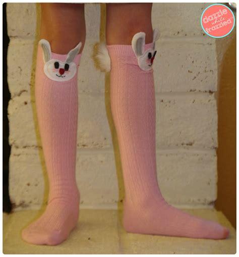 diy easter bunny girls knee high socks favecraftscom