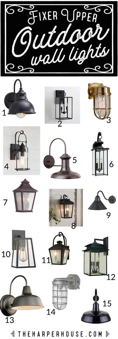 farmhouse light fixtures outdoor wall lights fixer style the house