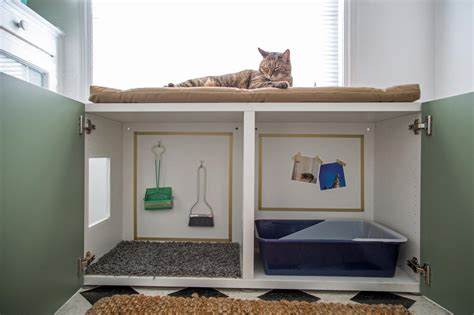 custom litter box cabinets how to conceal a kitty litter box inside a cabinet how