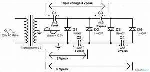 Voltage multiplier circuits voltage doubler voltage for Dc voltage doubler articlequot power electronic projects simple circuit