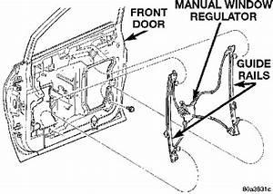 1999 Dodge  An Inside Door Panel  Drivers Side  Caravan
