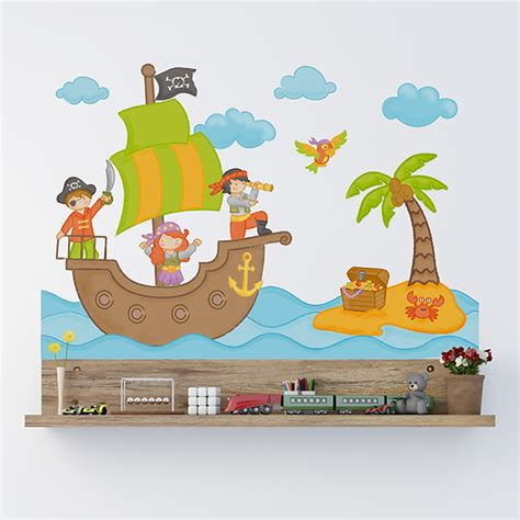 Wandtattoo Kinderzimmer Piraten by Wandtattoo Pirat Webwandtattoo