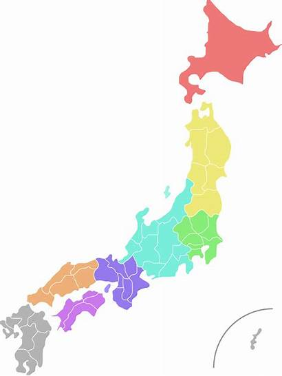 Japan Map Colour Clipart Svg Japanese Country