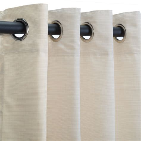 sunbrella curtains with grommets sunbrella dupione pearl grommeted outdoor curtains dfohome