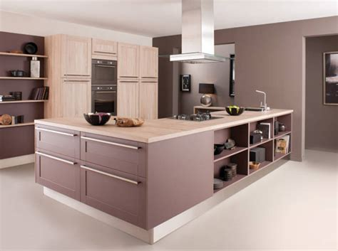 photo de cuisine avec ilot modele de cuisine avec ilot central