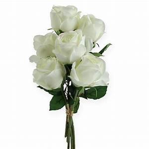 Deko In Weiß : deko rosen wei 32cm 6st preiswert online kaufen ~ Yasmunasinghe.com Haus und Dekorationen