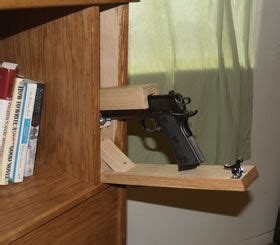 covert furniture bed headboard  hidden gun storage   kevin