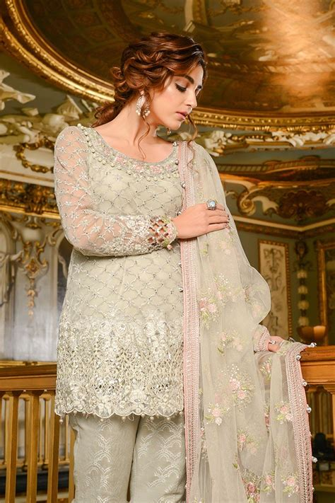 maria  embroidered formal winter dresses collection