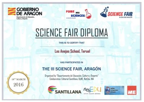 Stem Certificate Template by Titulo Science Fair Aragon