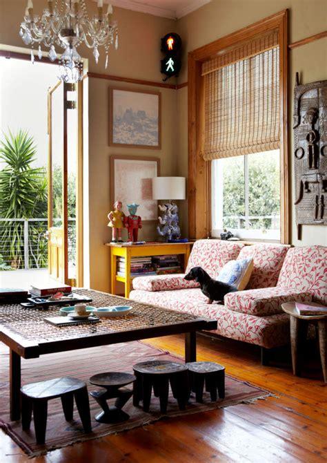 living room furniture  ethnic sculptures interior