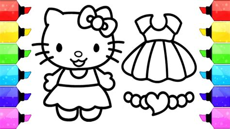 HELLO KITTY Coloring Pages How to Draw Hello Kitty Dress
