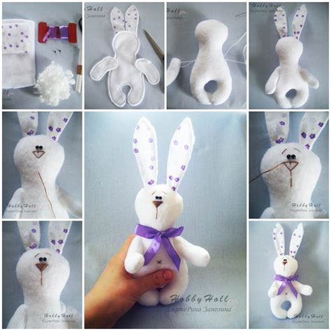 adorable felted bunny