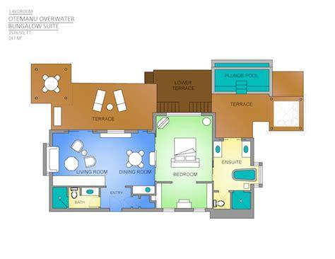 bora bora overwater bungalow suite  bedroom