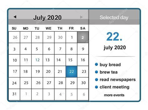 july calendar stock vector sarahdesign