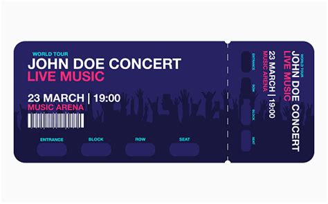 concert ticket template concert party  festival ticket