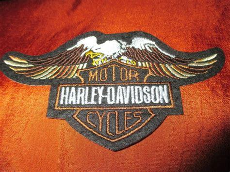 Harley Davidson Bar Shield Upwing Eagle Embroidered