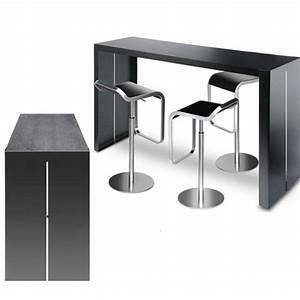 Panco Table La Palma Noir Pore Ouvert Table De Bar