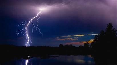 Lightning Night Wallpapers River