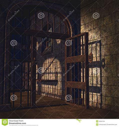 rusty prison door stock illustration image