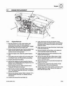 7 Engine Replacement  1 Engine Removal  Engine Replacement
