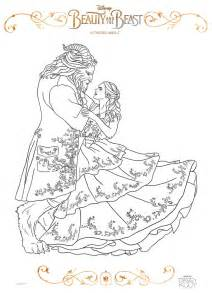 Beauty and the Beast 2017 Coloring Sheets