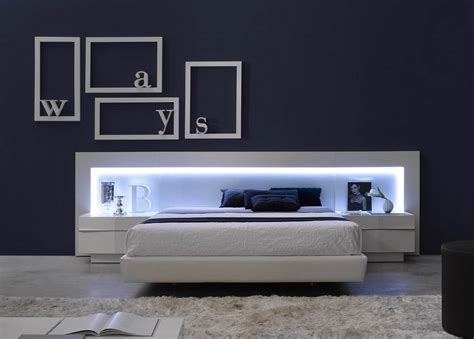 lumiere chambre b spain made ultra modern platform bed w led headboard