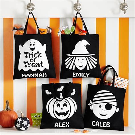 personalized halloween treat bags totes pails