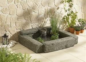 Bassin De Terrasse : fontaine broceliande bassin de terrasse pompe ~ Premium-room.com Idées de Décoration