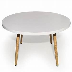 Table Salle à Manger Scandinave : table ronde scandinave nora blanc achat vente table salle a manger pas cher couleur et ~ Teatrodelosmanantiales.com Idées de Décoration
