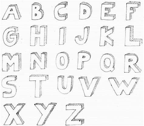 how to draw letters in 3d 3d letter alphabet for documents 50276
