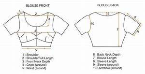 Size Chart For Saree   Lehenga Blouse Only