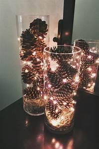 Ideen Mit Lichterketten : basteln mit zapfen 55 tolle diy dekoideen zu weihnachten ~ Markanthonyermac.com Haus und Dekorationen