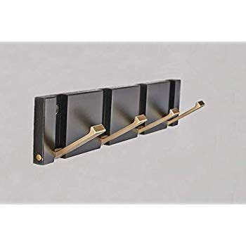 sh hardware space aluminum material flip  hook wall mounted black gold floating coat entry