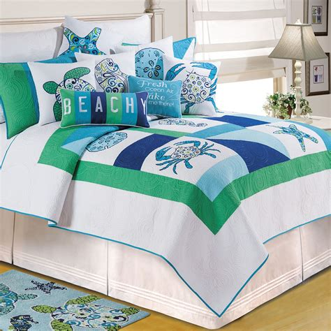 sea themed bedding sets meridian waters ocean themed patchwork quilt bedding