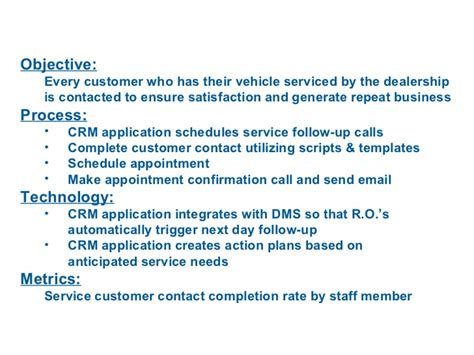 crm process implementation for car dealers
