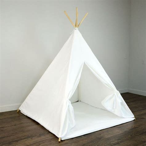 Spiel Tipi Kinderzimmer by Play Teepee Tent And Play Mat In Solid Plain White