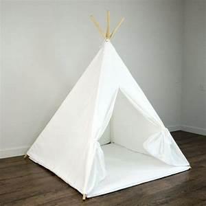 Tipi Zelt Kinder Günstig : kids play teepee tent and play mat in solid plain white cotton canvas kids room ~ Eleganceandgraceweddings.com Haus und Dekorationen
