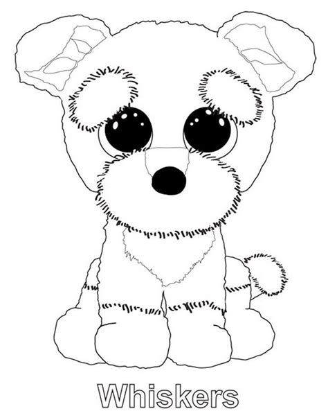 Kleurplaat Beanie Boo by Whiskers From Beanie Boo Coloring Sheet