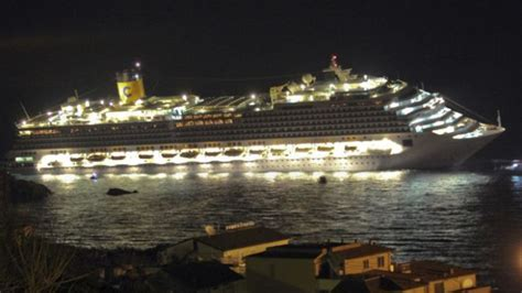 first video and images of the cruise ship sinking in italy