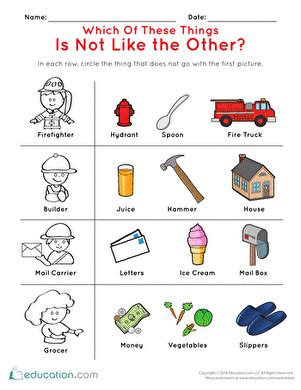does your child have to go to preschool what does not belong 2 worksheet education 397