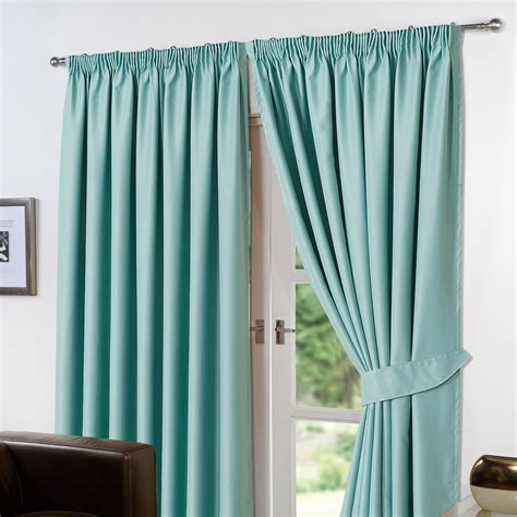 thermal insulated curtains thermal pencil pleat blackout pair curtains ready made