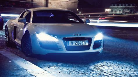 night lights cars audi audi  wallpaper