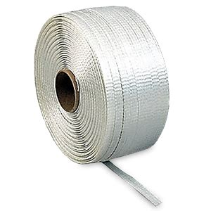 woven poly cord strapping short roll poly woven strap