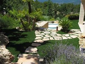 amenagement d39un jardin synthetique a saint tropez la pose With amenagement exterieur terrasse maison 4 amenagement dun jardin en restanques aix jardin