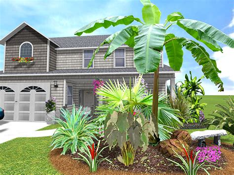 tropical front garden ideas mr adam arizona backyard landscaping pictures decks porches