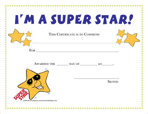 Free Printable Childrens Certificates Templates by 5 Award Certificates Template Bookletemplate Org