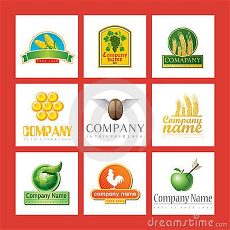 cuisine company company logos with food royalty free stock images image