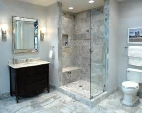 elegant bathroom featuring claros silver travertine